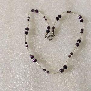 Cat eye beads necklace
